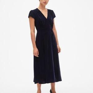Blue velvet wrap dress 👗💙